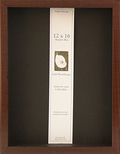 12x16 Shadow Box Wood Frame 2 1/8'' Deep (Cherry) by Frame USA