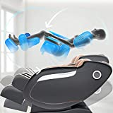 Real Relax 2020 Massage Chair, Thai Yoga Stretch 3D SL-Track Zero Gravity, Full Body Shiatsu Massage Chair with Tap, Bluetooth Heating and Foot Roller Massager