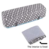 Luxja Dust Cover Compatible with Cricut Explore Air and Explore Air 2, Dust Cover with Back Pockets, Gray Dots