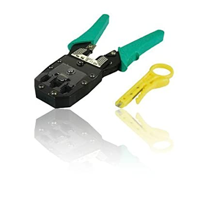 CDL Micro - Que prensa RJ45 herramienta y conectores RJ11 8P8C, 6P6C y 4P4C herramienta