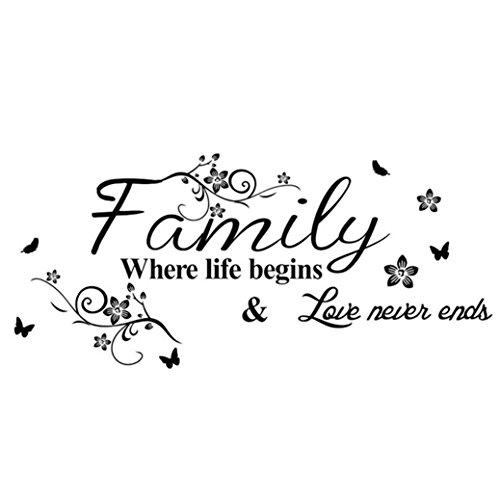 TIFENNY Hot Art Family Beautiful Flower Wall Stickers Home Words Decor Wall Sticker by TIFENNY (Image #3)