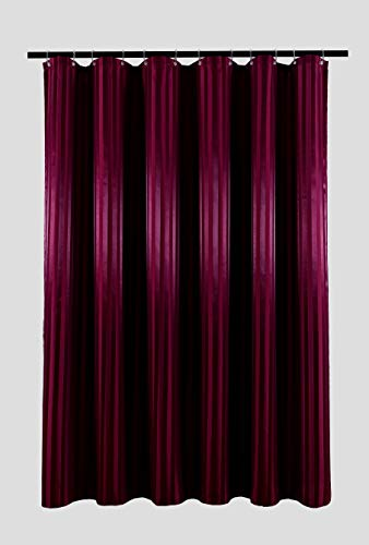 - Biscaynebay Fabric Shower Curtain or Liner,  Luxurious and Thick Two Tones Damask Stripes Waterproof and Water Resistant Bathroom Curtain Set, 72 by 72 Inch, Striped Burgundy