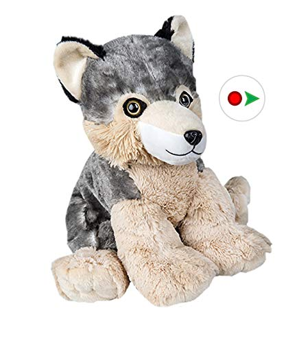 Stuffems Toy Shop Record Your Own Plush 8 inch Wolf - Ready 2 Love in a Few Easy Steps