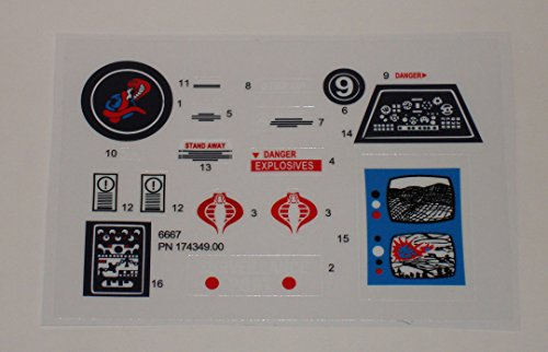 TFK GI Joe Surveillance Port Battle Station Sticker Sheet