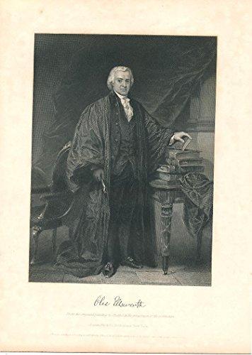 Oliver Ellsworth Supreme Court Justice 1863 nice old portrait print - Justice Portrait