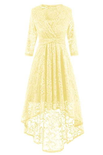 Vintage Lace Cap Champagner Sleeve Formal Women's Adodress Swing Prom Floral Party Dresses Cocktail Dress Retro Dresses 1 Short 2017 wCtPtqY