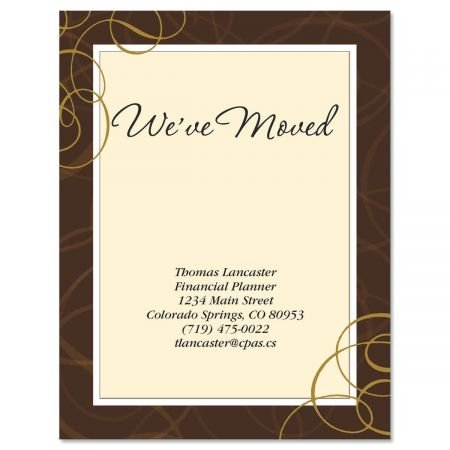 All Natural We've Moved Postcards - Set of 24 5-1/4'' x 4'' post cards