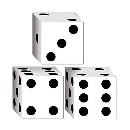 Club Pack of 36 Decorative Casino Dice Party Favor Boxes -