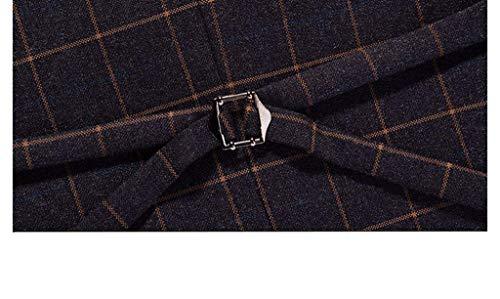 Elegante Solenne Vest 1 4 Tight Vintage Plaid Gilet Con Uomo Business Kariert Ver 3 Bottoni Cut Casual Targogo xXqwFISfvn