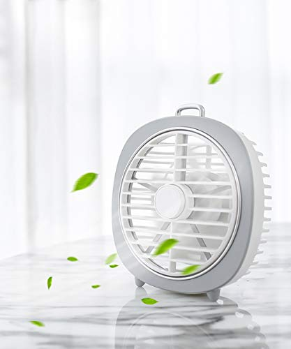 - Eraindo Small Personal USB Desk Fan 360 Degree Rotation 3 Speeds Mini Size Desktop Table Protable Fan with USB Rechargeable Powerful Wind Quiet Operation for Home Office Car Outdoor Travel(White)