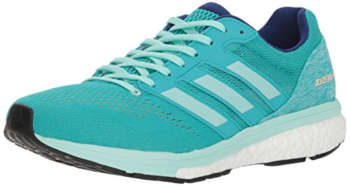 adidas Women's Adizero Boston 7 Running Shoe, hi-res Aqua/Clear Mint/Mystery Ink, 8 M US