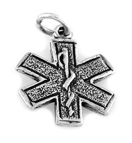 Sterling Silver Medical/Paramedic Symbol Charm Jewelry Making Supply Pendant Bracelet DIY Crafting by Wholesale Charms