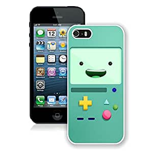 Beautiful Designed Cover Case For iPhone 5S With Adventure Time 3 White Phone Case