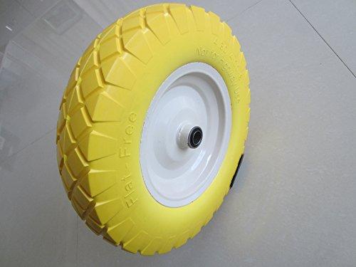 Kunhua 16-pu-2y-fk-20d 4.80/4.00-8 Flat Free Wheelbarrow Tire with Knobby Tread 3