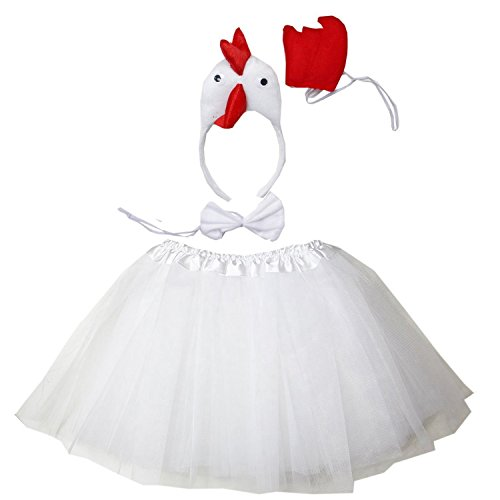 Kirei Sui White chicken 3D Costume Tutu Set -