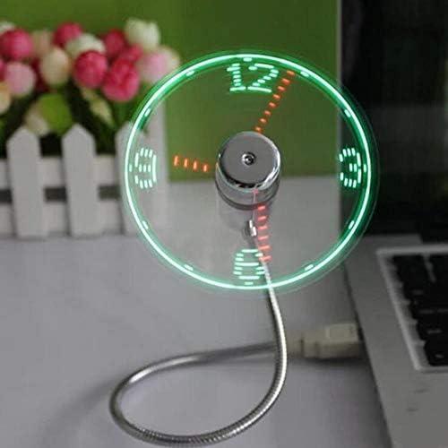 MINI Flexibele LED USB Klok Ventilator Horloge Gadgets Office Bureau Koeling Temperatuur Verstelbare Display Fan voor PC Laptop Desktop Gifts
