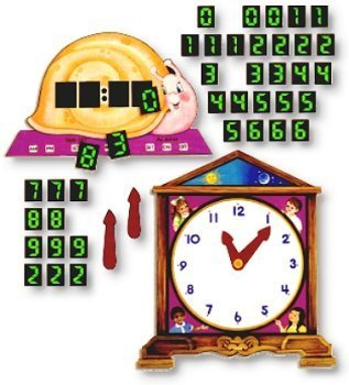 Telling Time Flannelboard Figures Flannelboard Lesson Set - Kit by Little Folk Visuals / Betty Lukens