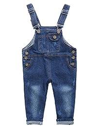 ARAUS Denim Dungarees Baby Infant Jeans Bib Overalls Strap Jumpsuit Pants 1-7T