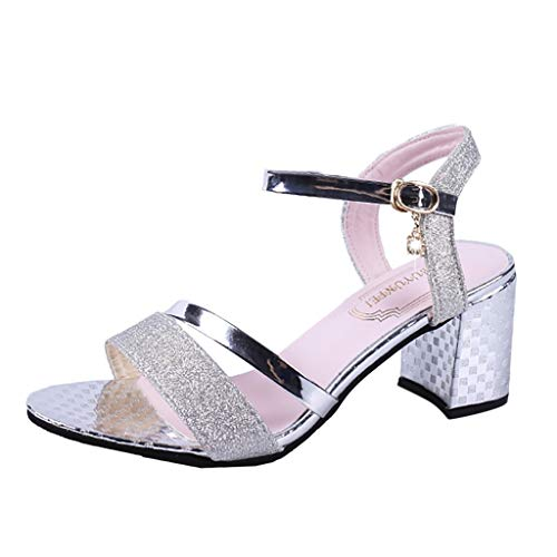 Euone Women Shoes, Fashion Women Summer Pumps High Heel Sandals Casual Bucket Peep Toe Sandals ()