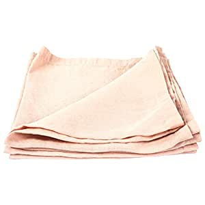 "LinenMe Stone Washed X4 Napkins, 21 by 21"", Rosa"