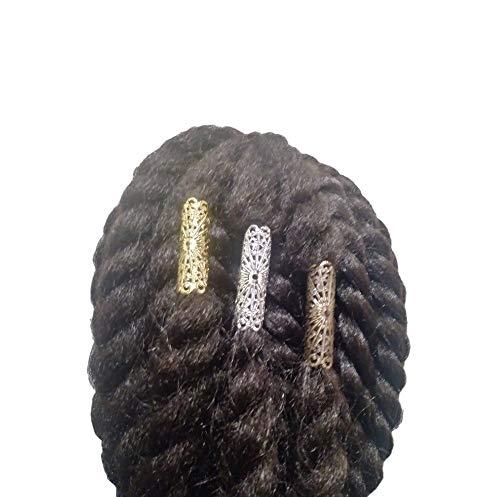 3 Assorted Light Weight Jata Dreadlock Beads Loc Jewelry Braid Sleeves Bronze Silver Gold, Dress Your Tress
