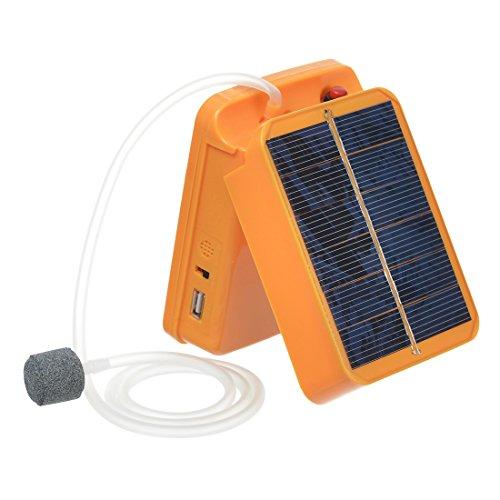 Hisea Portable Solar Power Air Pump Oxygenator for Aquari...