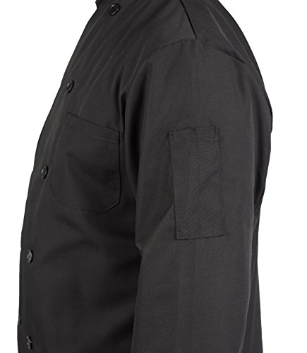 KNG Black Lightweight Long Sleeve Chef Coat by KNG (Image #4)