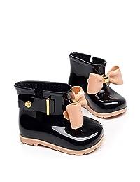 Yvonnelee Summer Baby Girls Cute Rubber Jelly Shoes Children Bowknot Rain Boot Anti-Slip Rainshoes