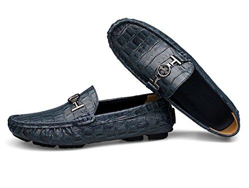 Mocassini Uomo Casual Uomo Pantofole Ommda Cuoio Blue Eleganti gdUqFwv