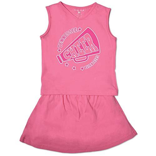 College Kids NCAA Tennessee Volunteers Toddler Girl Cheer Set, 2 Toddler, Pink Crush ()