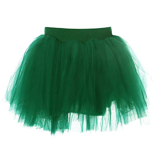 AWAYTR Baby Tutu Skirt for Girls - 4 Layers Soft Tulle Princess Dress Halloween Tutu (XL,Blackish Green) -