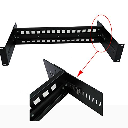 19 Inches Adjustable Rack Mount DIN Rail Bracket for Media Converters Ethernet Switch Industrial PoE Switch with Light and High Strength Aluminum Alloy Material (High Rackmount)