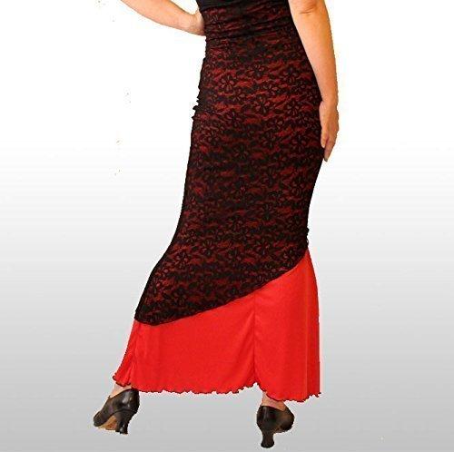 Falda de ensayo Flamenco con capa de blonda elá stica, Falda Flamenca - Producció n Express! Falda Flamenca - Producción Express!