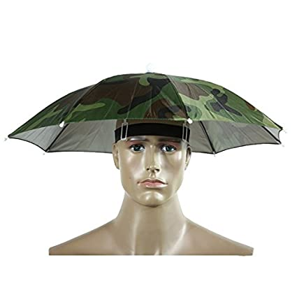 11440490c3548 Umbrella Hat Head Umbrella - Portable 55cm Umbrella Hat Sun Shade  Lightweight Camping Fishing Hiking Festivals Outdoor Brolly - Umbrella Hat  For Adults
