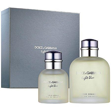 D&G Light Blue Pour Homme Gift Set Fragrance for (Gabbana Cologne Gift Set)