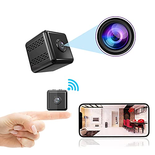 2021 Mini Spy Camera Real 1080P Wireless Hidden Camera Small Home Security Nanny Cameras with Night Vision Motion Cell Phone App Detection Tiny Cameras for Indoor/Outdoor
