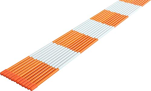(FiberMarker Solid Driveway Markers 48-Inch 20-Pack Orange 5/16-Inch Dia Fiberglass Driveway Poles for Easy Visibility at Night )