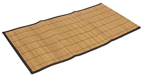 Seta Direct, Brown Bamboo Slat Table Runner With Black Color Border - Table Runner Bamboo