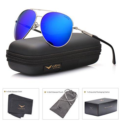 LUENX Aviator Sunglasses Polarized for Men Women with Sun Gl