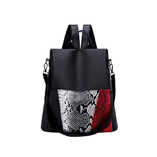 Maserfaliw Backpack,Travel Women Shoulders Bag Snakeskin Oxford Fabric Fashion Backpack Handbag -