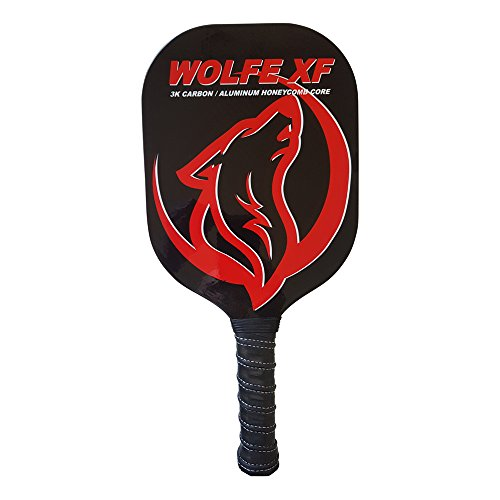 Wolfe XF 3K Carbon Fiber and Graphite - Edgeless Pickleball Paddle - Sports Pro-lite
