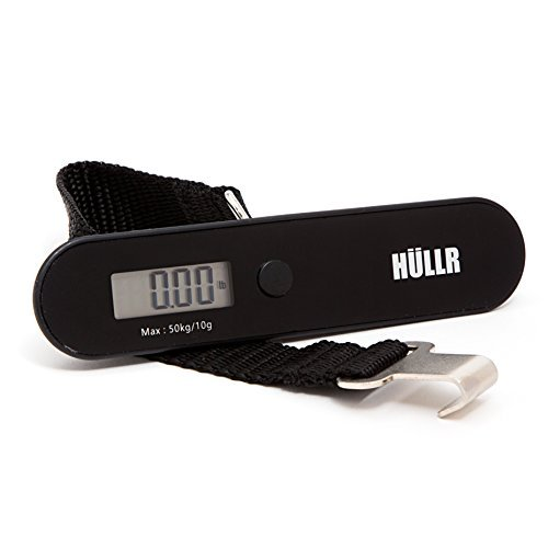 HULLR Men's Luggage Scale Travel Digital Hanging Portable Black
