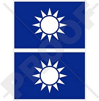 "Taiwan National Flag car bumper sticker decal 5/"" x 4/"""