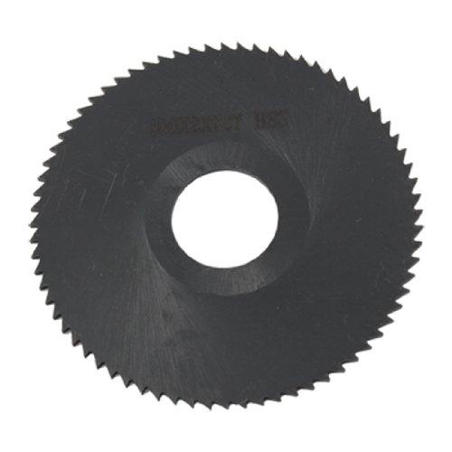 uxcell 100mm x 2mm 72 Peg Teeth Hand Tool Cutting HSS Slitting Saw Black