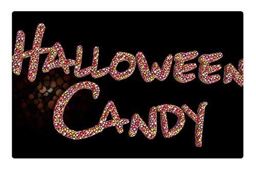 Indoor Floor Rug/Mat (23.6 x 15.7 Inch) - Candy Halloween Text Words Holiday Sweets Tasty]()