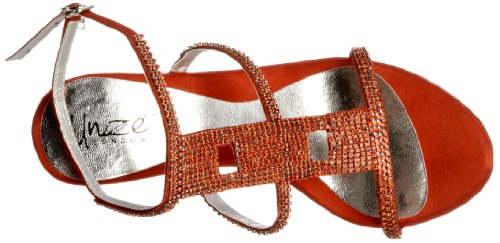 Unze Evening Sandals L18859W - Sandalias para mujer Rojo