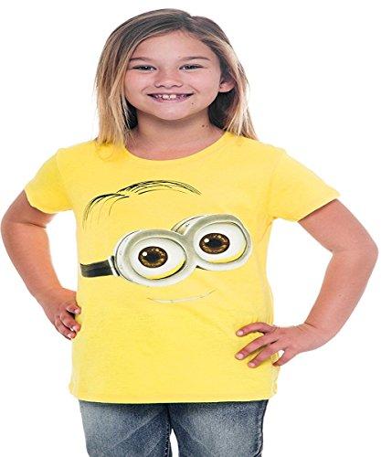 Girls Tart - Despicable Me Big Face Dave Girl's Tart Yellow T-Shirt (XL, Yellow)