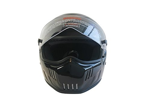 CRG Sports ATV Motocross Motorcycle Scooter Full-Face Fiberglass Helmet DOT Certified ATV-6 Glossy Black Size Large by CRG Sports (Image #2)