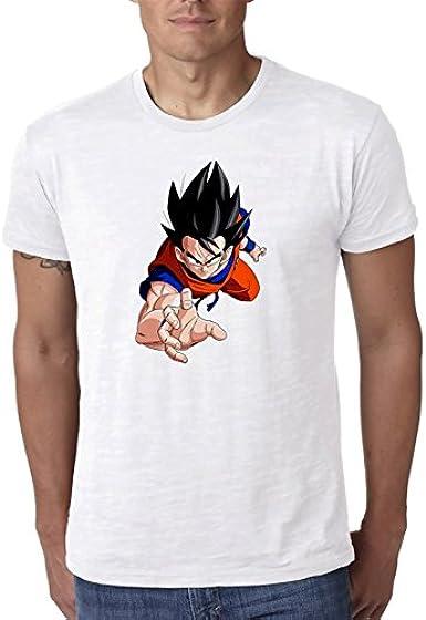 Dragon-Ball-z-Goku-Flying Blanco Camiseta Top t-Shirt Shirt ...