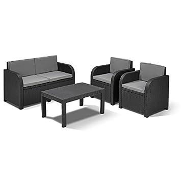Amazonde Allibert Lounge Sitzgruppe Mississippi Tisch Gartenmöbel